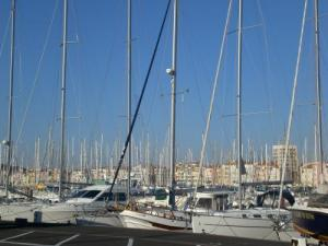 Sailboats in the harbor of Cape d'Agde
