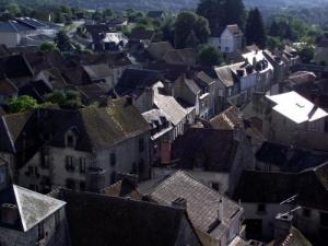 The town of Ahun from above