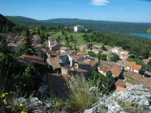 View of the village of Aiguines