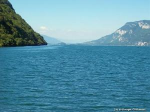 Lake Bourget seen from boat trip