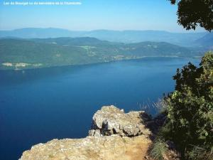 Lac du Bourget seen from the viewpoint of the Chambottte