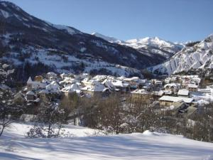 Of Allos village under snow
