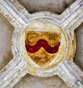 Keystone of the church, emblazoned (© J.E)