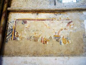 Old wall painting, in the church (© J.E)