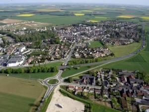 Aerial view of Angerville
