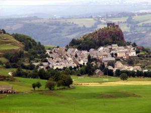 The castle and the village of Apchon