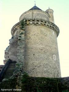 West Tower of the castle rebuilt in 1534