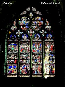 Choir Stained glass of Saint-Just church (© Jean Espirat)