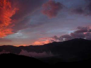Morning fire on Canigou
