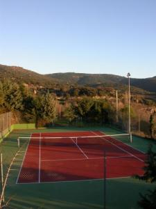 The tennis court is available for free