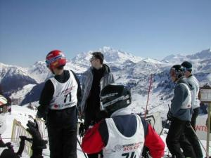 Facing the Mont-Blanc, a friendly competition Boardercross