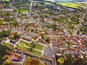 Argent-sur-Sauldre from the sky