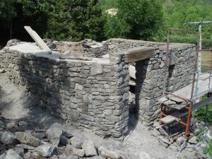 Reconstruction of bread oven of La Mouline