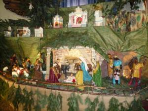 Christmas crib in church