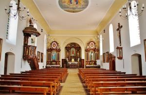 The interior of the St. Lawrence Church