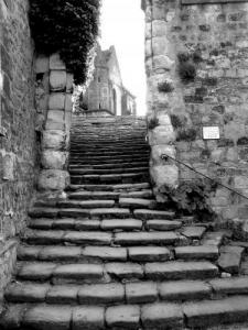 staircase that leads to the Church of Auvers