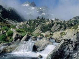 Pic de la Grave and waterfalls