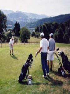 Golf Bagneres facing the Pyrenees