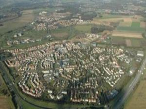 Aerial view of Bailly-Romainvilliers