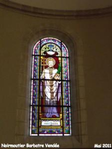 Stained glass window of the church Saint-Nicolas