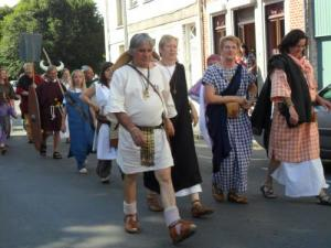 Parade in the city during the Roman festivals
