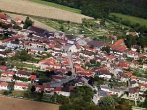 Aerial view of village Bayel