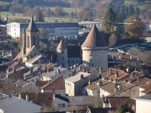 Bourganeuf, the church and the tower Zizim