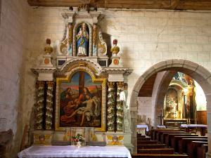 Altarpiece MH of the church of Our Lady of the Assumption in Brecé