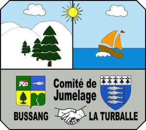 the coat of arms of Bussang Twinning committee La Turballe