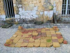 Amazing leftover paving ...