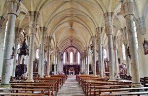 The interior of Notre-Dame church