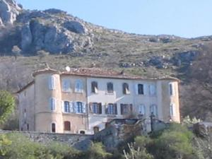 The Eoulx castle in the town of Castellane