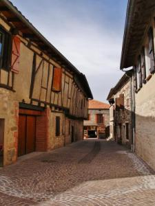 Village Street and timbered houses