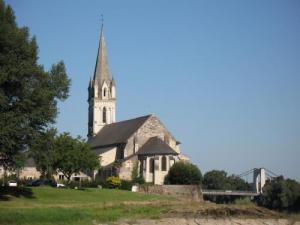 Church St. Maurille on the banks of the Loire