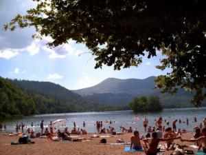 Le Chambon lake beach is