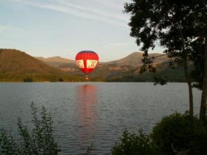 Ballooning over Lake