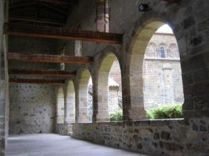The cloister of the Priory