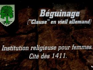 Information about the beguinage (© J.E)