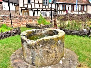 Old well, in the medieval garden (© J.E)