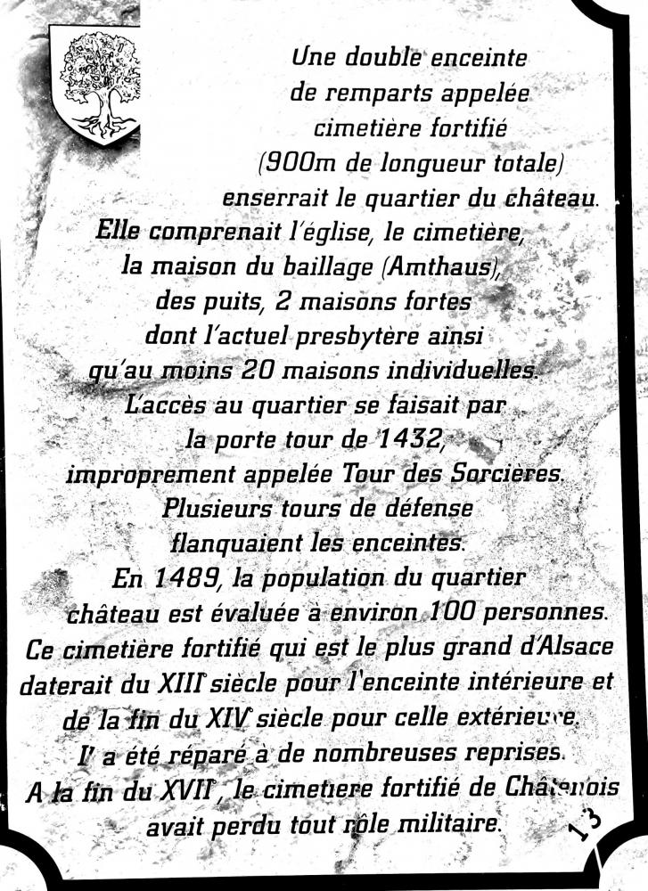 Châtenois - Information about the fortified cemetery (© J.E)