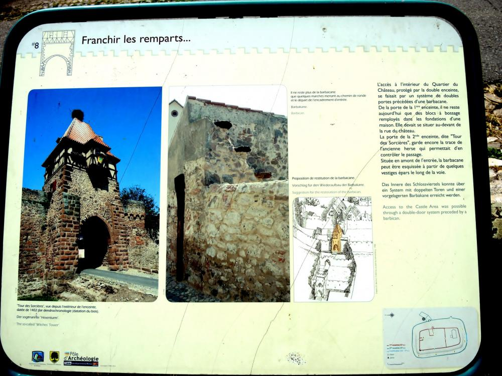 Châtenois - Information on the ramparts (© J.E)