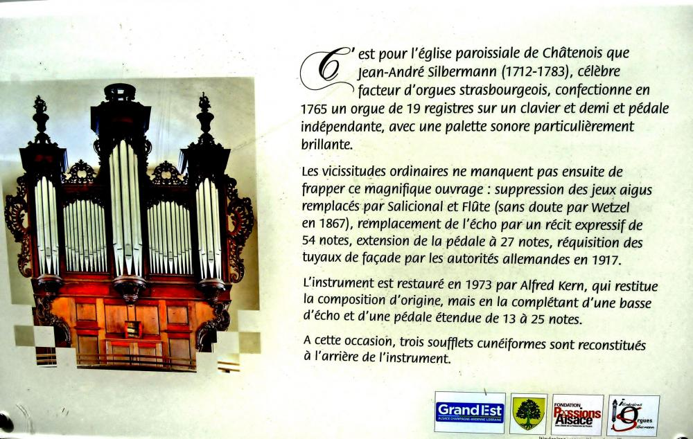 Châtenois - Information on the organ (© J.E)