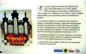 Information on the organ (© J.E)