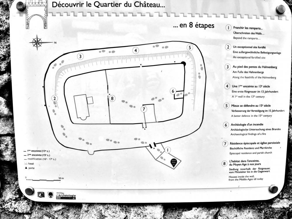 Châtenois - Plan of the fortified cemetery (© J.E)