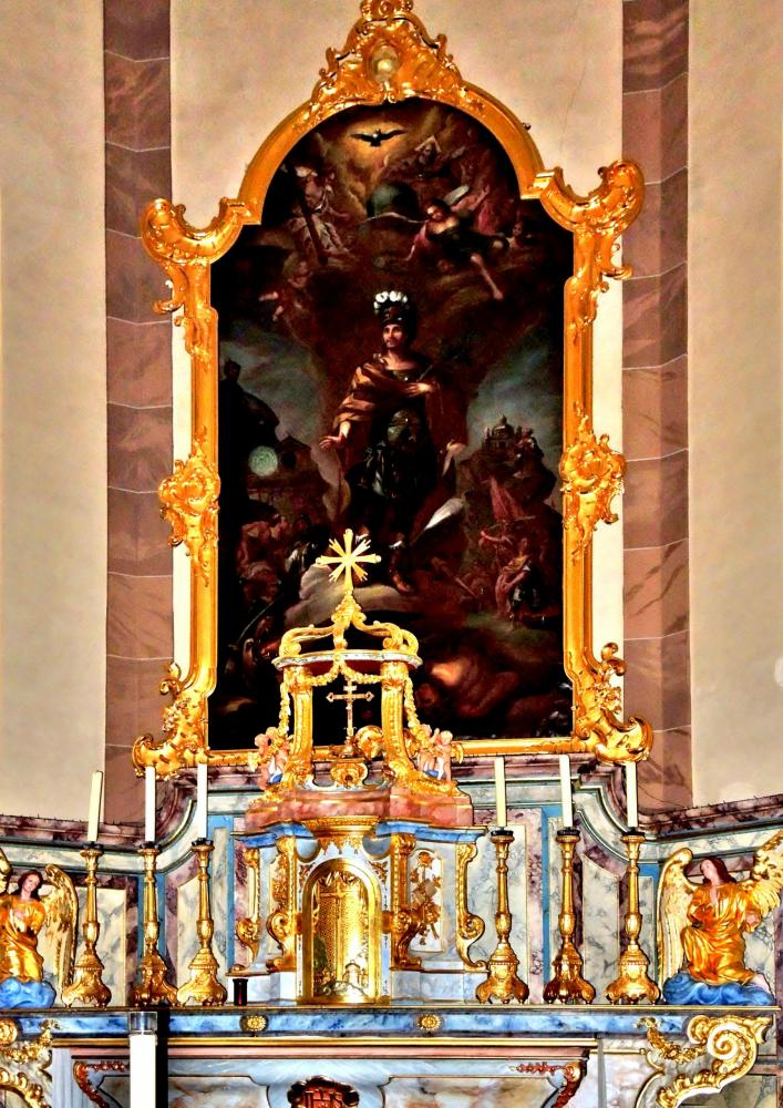 Châtenois - Altarpiece of the church (© J.E)