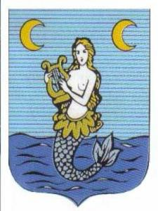 Blason de Chens-sur-Léman: Mermaid with golden hair