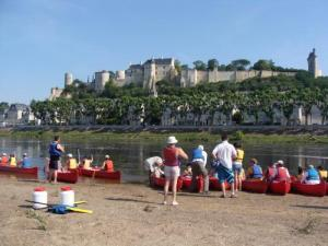 Canoeing at Chinon