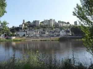 View of Chinon and its royal fortress