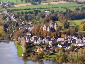 Aerial view of Combourg