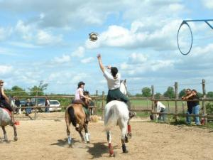 Horse ball at the riding of Combres